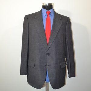 Burberry 44R Sport Coat Blazer Suit Jacket Gray Bl